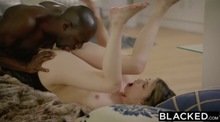 Black guy seduced a girl he liked a lot and fucked her brains out, one day