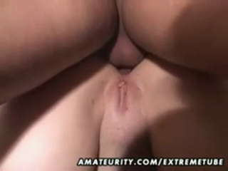 mature amateur chubby slut anal and blowjob with cum